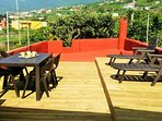 Sunny and calm terrace.
