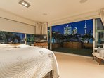 Masterbedroom with Sky City views