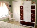 Master bedroom, View 2   (TV in cabinet)