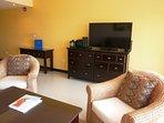 Living room with flatscreen HDTV.