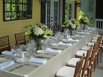 intimate wedding reception for 25-
