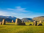 There are many stone circles in the surrounding area, such as Castlerigg circle.