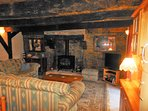 Sweet Chestnut Cottage lounge with 32' LCD TV