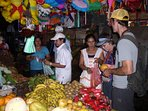 Shopping fresh fruit in the market in Chinandega.
