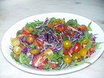 A colourful spring salad of local ingredients