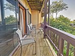 Admire sensational mountain views from the private balcony.