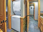 Laundry machines are provided for you convenience.