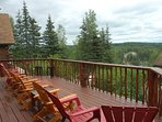 Harmony Lodge deck with 8 chairs
