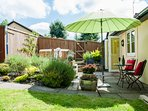 Retreeat for Couples with Private Garden with open air Hot Tub - bottle for photo & not supplied.