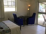 Studio 3 and 4 (poolsite)with kitchen, bathroom, porch, airconditioning, ventilator,