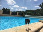 Pool with vineyard view