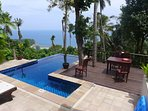 Baan chom chan,  sea view, private pool, Jacuzzi