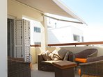 automatic sun blind on veranda
