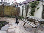 The fully enclosed back garden adjoins the bridle path for lovely walks to the pub or further
