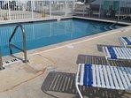 Beautiful pool, very peaceful