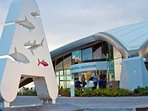 The entrance to the national Aquarium and great family restaurant.