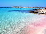 The Elafonisi beach, is just one & half hour away