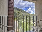 Enjoy stunning mountain views from the private balcony.
