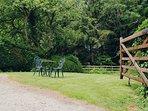 Enclosed private garden