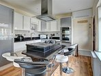 Well equipped and stylish kitchen and dining area