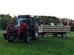 wagon ride thru farm
