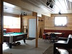 game room with pool table, foosball, cards board games video games ect.