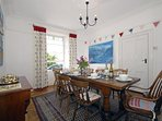Cardigan Bay home for holidays in New Quay - dining area with sea views
