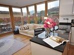Spacious open plan kitchen/living area