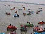 Boating at 'Sukhna Lake'
