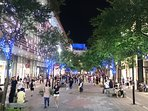 lively walk-able xinyi commercial district