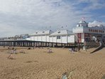 Visit the many cafes and attractions at Weston's Grand Pier