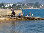 Crabbing of the old pier