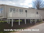 Caravan B19 Sea View, C/H DG Deck 2 bed Sleeps 6