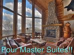 4 Master Bedrooms! Mountain Views! Private Fishing