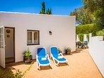 Relax on this suntrap private and secluded terrace. Peaceful surrounding with citrus ambience.