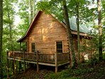 Secluded Log Cabin on organic farm, trout stream