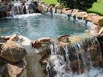 Soothing waterfall onsite