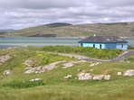 View from croft of Carrick and across the Sound of Harris to South Uist