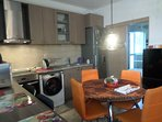 Open plan dining and kitchen areas fully equipped  for self catering