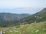 The view from the mountain Velebit, the Senj surroundings