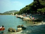 Beach Zamalin, only few minutes walking from apatment