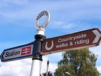 Bearsted station is a 5 minute walk away and the open countryside offers a wide range of walks