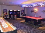 Escape the sun or unwind in the Arcade & Game Room available to all guests!!