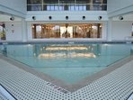 Heated Indoor pool in located on the 2nd story overlooking the Gulf of Mexico!!