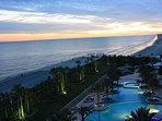 Enjoy stunning sunset views from your private balcony overlooking the Gulf.