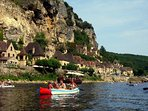 Canoeing from Le Roq Gageac on Dordogne (90 mins Drive)