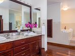 Bedroom #1 Bathroom with spa tub.