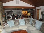 L shape sofa in living area