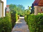 The walkway to Belvedere