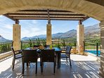 Great veranda equipped with patio furniture!